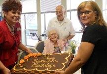 birthday cake at congregate cafe for september birthdays