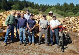 firewood work crew in grass valley