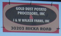 Detail of Gold Dust's New Sign