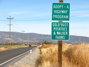 Gold Dust Potato Processors and Walker Brothers Farms have adopted a piece of Hwy 50 outside of Malin, Oregon.