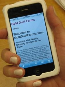 GoldDustFarms.com Is Mobile-Friendly