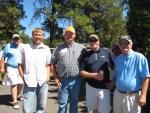 Nathan Rajnus, Cory Thompson, Steve Parkinson and Howard Klassen