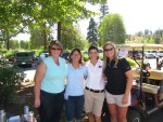 Tricia, Scarlett, Lexi and Sheena At The Running Y Golf Course