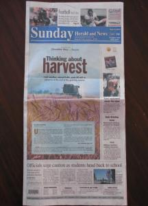 Herald and News Front Page, Sept. 5, 2010