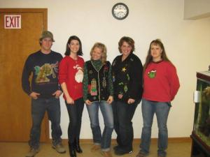 Gold Dust 2010 Ugly Christmas Sweater contestants
