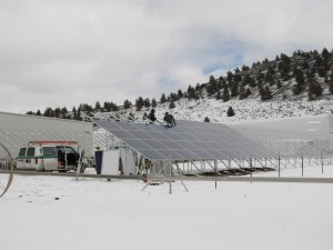 Solar panels being installed at our processing plant in Malin, Oregon