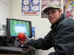 Matt Thompson showing off Techmark IRD