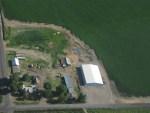 The Johnson Pivot Cellar Solar Station located east of Malin, Oregon
