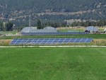 The McVay Pump solar panels with the Gold Dust potato processing plant in the background
