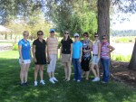 The ladies line up for a pre-golf picture at the Running Y Resort