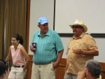 Bill and John Walker thanking all who attended Gold Dust's Open House Field Day