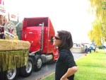 Keely Oswald led the Gold Dust crew in decorating the Potato Festival float