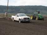 A large board used for working ground being readied for grain planting at the Running Y Ranch, Klamath Falls, OR.