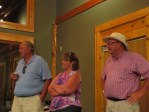 Bill Walker, Tricia Hill and John Walker thank their guests for attending the 2012 Open House Field Day.