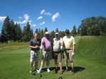 "Jason Tryan, John Walker, Duane ""Sarge"" Preston and Marshall Staunton at the Running Y Ranch golf course."