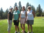 Katie Walker, Dianne Spires, Suzi Frederickson and Jan Walker at the Running Y golf course.
