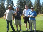 Weston Walker, Ron Marshall, Tony Gudajtes and Jeff Gibson enjoying a round of golf at the Running Y Ranch.