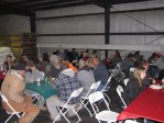 Gold Dust employees having holiday lunch at Gold Dust's Malin potato packing shed.