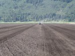 A field at the Running Y Ranch near Klamath Falls, Oregon, is prepped for chipping potatoes