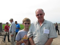 Vern and Chance Frederickson at Gold Dust's 2013 Open House Field Day.