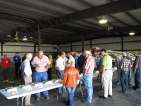 Bill and John Walker answer questions for guests at Gold Dust's 14th Annual Open House Field Day.