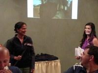 Carla Vigen accepting an award for Women's KP at Gold Dust's 2014 Open House Field Day golf scramble.