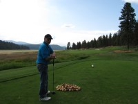 Matt Huffman at the 1st tee of the Running Y Ranch resort golf course.