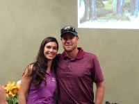 Men's longest drive winner Matt Thompson poses with Lexi Crawford at Gold Dust's 2014 Open House Field Day dinner.