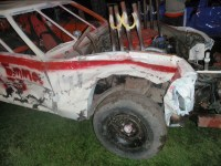 A photo of Gold Dust car after the 2014 Tulelake-Butte Valley Fair demolition derby.