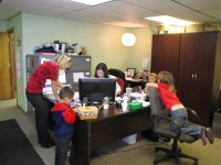 The Gold Dust Potato Processors offices were visited by employees' children for their annual Take Your Kids To Work day.