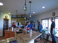 Gold Dust Potato Processors gather for a potato feast at Jan Walker's home.