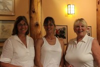 Dianne Spires, Suzi Frederickson and Jan Walker ended up in last place at Gold Dust's 15th Annual Open House Field Day Golf Scramble.