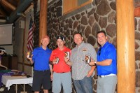 Charles McElligott, Greg Addington, Weston Walker & Aaron Karp's team was second place at Gold Dust's 2016 Open House Field Day Golf Tournament.