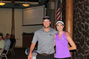 Matt Thompson won men's longest drive at Gold Dust Potatoes' 16th Annual Open House Field Day Golf Tournament.