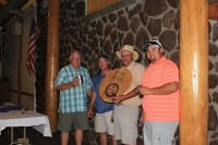 "Duane ""Sarge"" Preston, Mike Henard, John Walker & Jared Marshall took home first place at the 16th Annual Gold Dust Open House Field Day Golf Tournament."