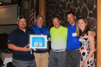 At the 2016 Open House Field Day dinner, Pape' Machinery was recognized by the Make-A-Wish Foundation for their generosity.