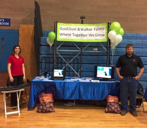 Lexi Crawford and Toby Turner representing Gold Dust and Walker Brothers at the Mazama Career Fair in Klamath Falls, Oregon.