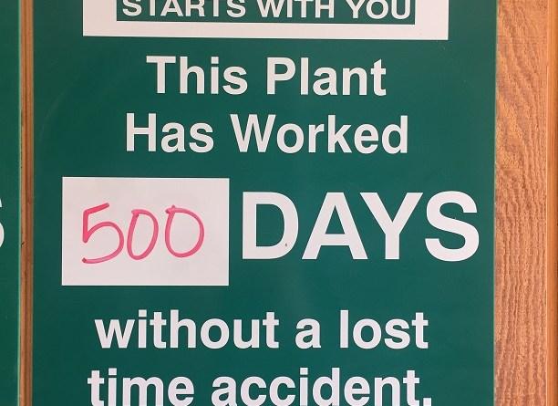 500 Days of Safety!