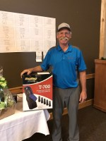 2017 Open House Field Day Men's Longest Drive winner Matt Huffman at Reames' Country Club.