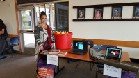 Katrina Lee, Gold Dust Human Resources administrator, at Klamath Community College's 1st Annual Ag Career Fair.