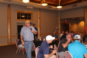 John Walker thanking guests at Gold Dust's 18th Annual Open House Field Day.