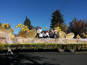 Gold Dust Potatoes and Walker Farms' 2013 Klamath Basin Potato Festival float.