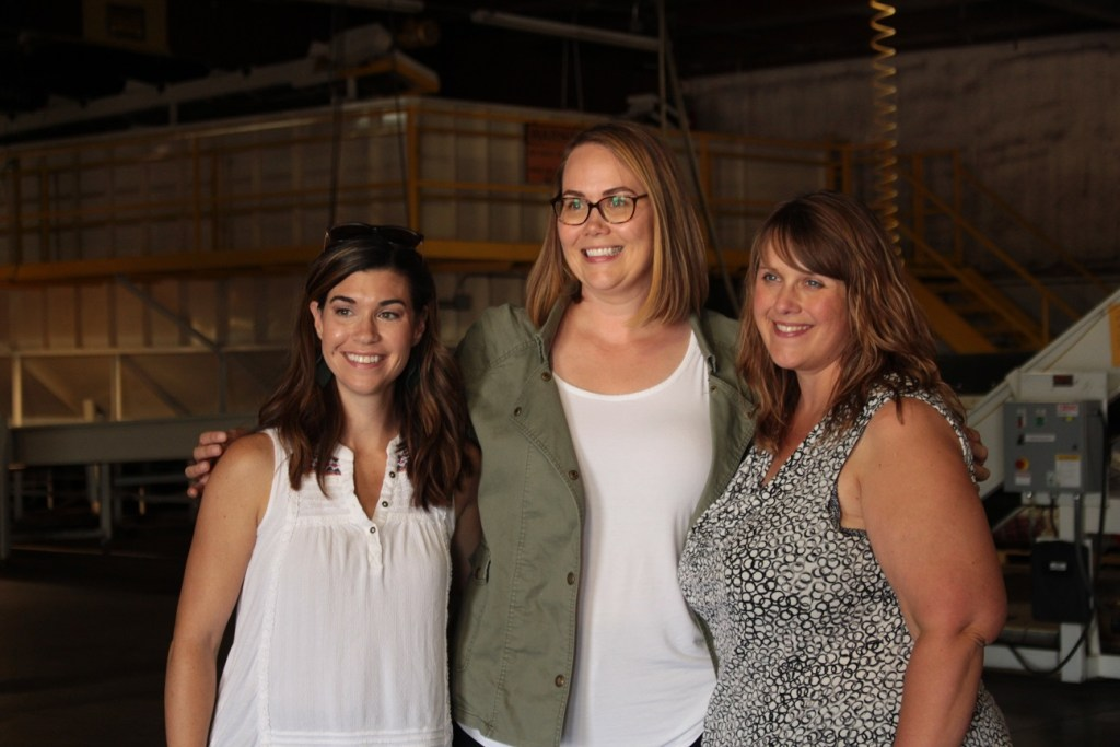 Lexi Crawford, Alexis Taylor and Tricia Hill in Gold Dust's packing shed during Gold Dust & Walker Farms' 2019 Open House Field Day