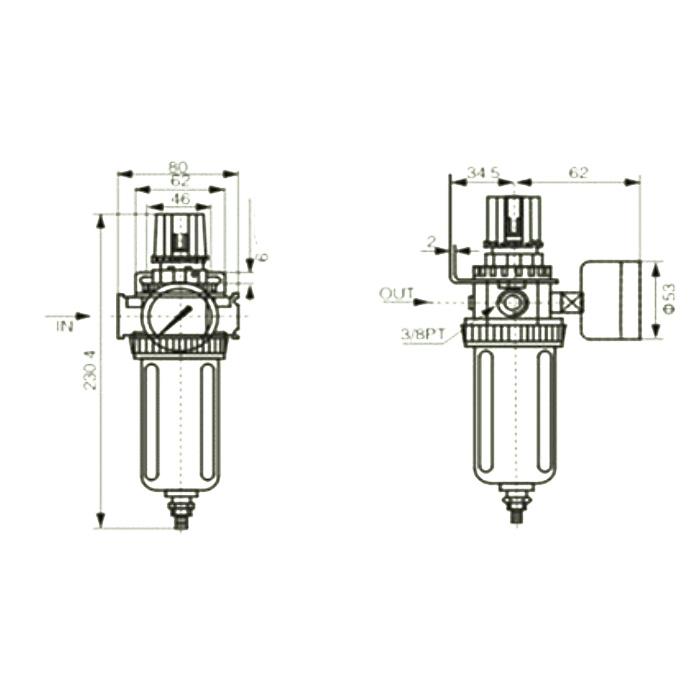 AIR Compressor Moisture Water Trap Filter Regulator