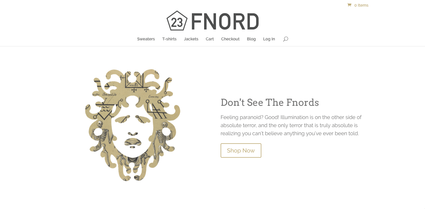 Fnord Clothing & Merch