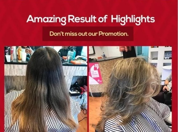 Keratin Blow Dry and Highlights