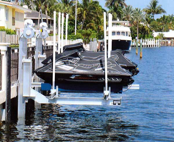 Personal Watercraft Boat Lifts  Golden Boat Lifts