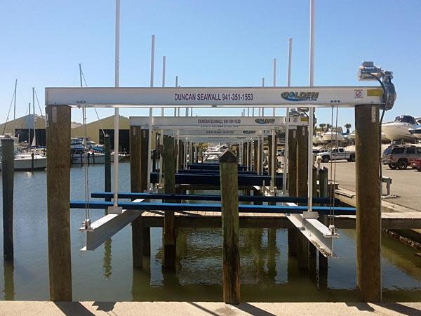 Marina Boat Lifts Golden Boat Lifts