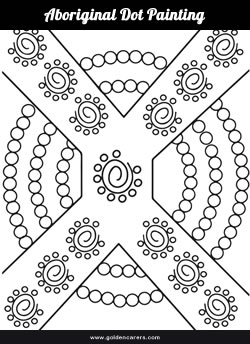 Aboriginal Dot Painting Template 2
