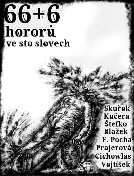 Obálka knihy 66+6 hororů ve sto slovech